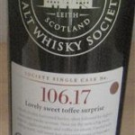 "SMWS 106.17 ""Lovely sweet toffee surprise"" (Cardhu 27, 53%)"
