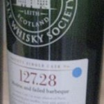 "SMWS 127.28 ""Modroc and failed barbeque"" (Port Charlotte 2002)"
