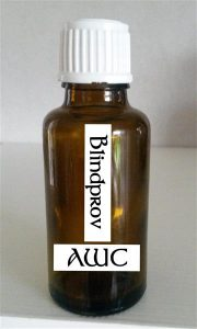AWC-Blindprov - 3 cl