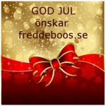 GOD JUL önskar freddeboos.se