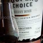 Glenrothes (The Cooper's Choice) Sherry Bomb 57% First fill Oloroso