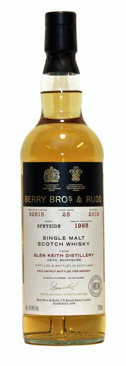 Glen Keith 1993 25yo (Berrys Own Selection, Berry Bros & Rudd) 54,9%