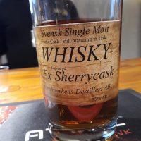 Nordmarkens Svensk Whisky Ex-Sherry 55%