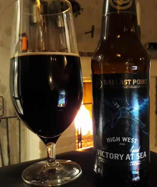 Ballast Point High West Bourbon Barrel Aged Victory At Sea (2018) 12%