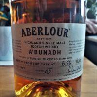Aberlour a'bunadh batch 65 59,5%