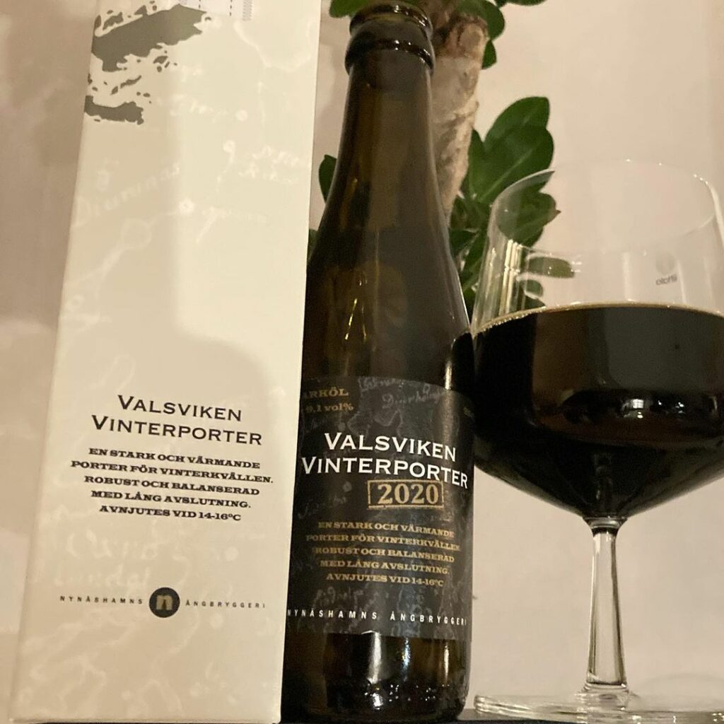 Nynäshamns Ångbryggeri Valsviken Vinterporter 2020 9,1%