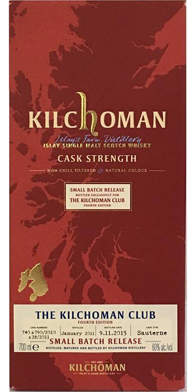 Kilchoman 'The Kilchoman Club' Fourth Edition, Sauternes Wine (2011) 60%