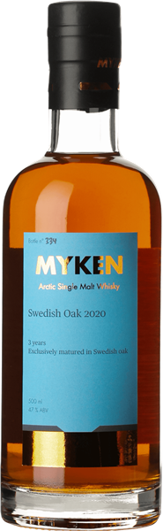 Myken Arctic Single Malt Whisky Swedish Oak 2020 47%